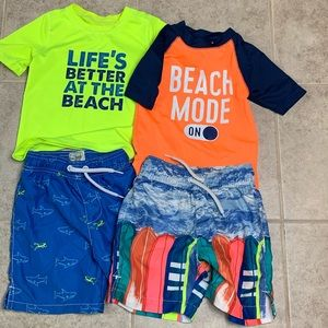 Children's Place | Little Boy Swimming Trunk Lot